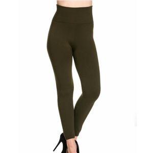 Anemone Fleece Lined Leggings in Charcoal OSFM